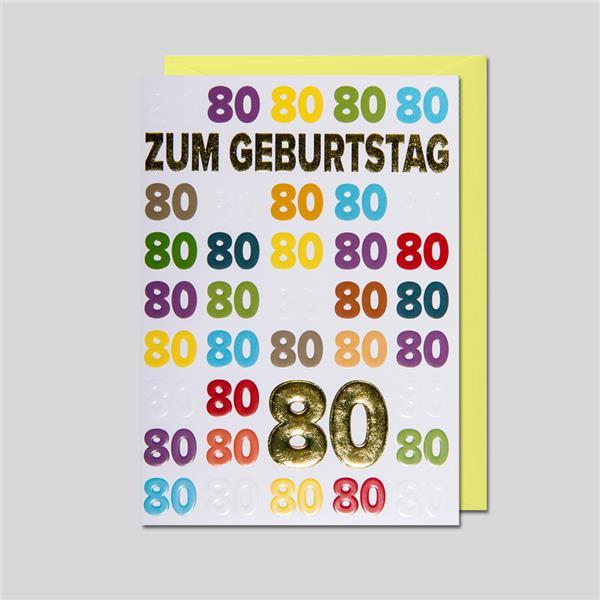 Umschlagkarte 80. Geburtstag