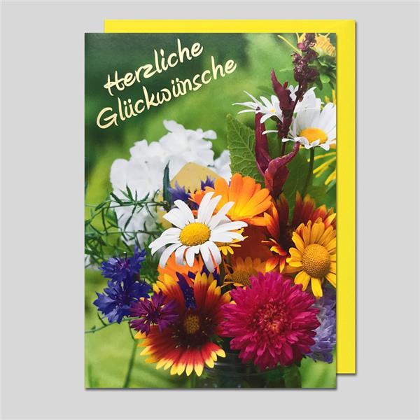 Umschlagkarte Herzliche Glückwünsche