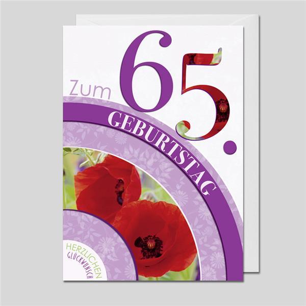 Flower Age 65.Geburtstag