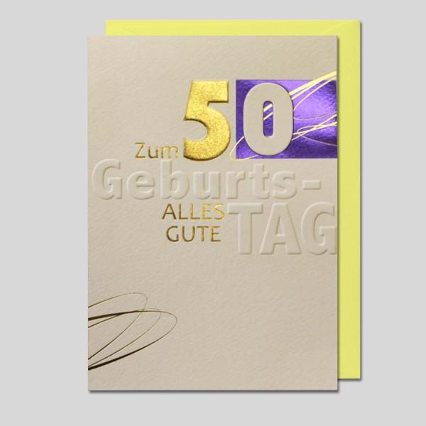 Umschlagkarte 50. Geburtstag