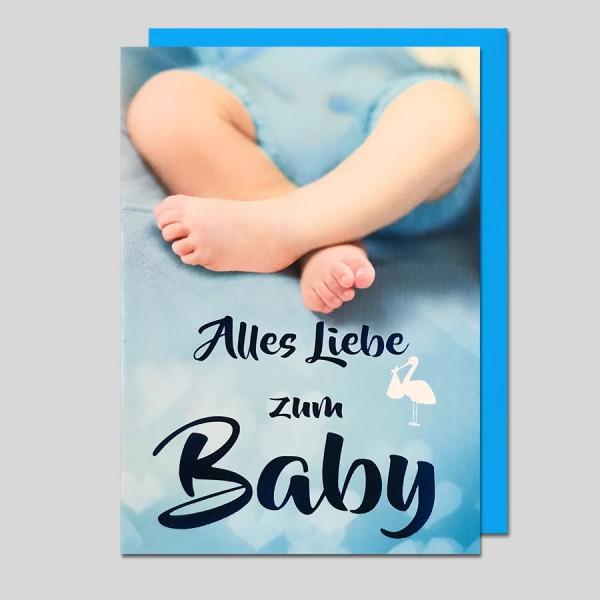 Umschlagkarte Zum Baby