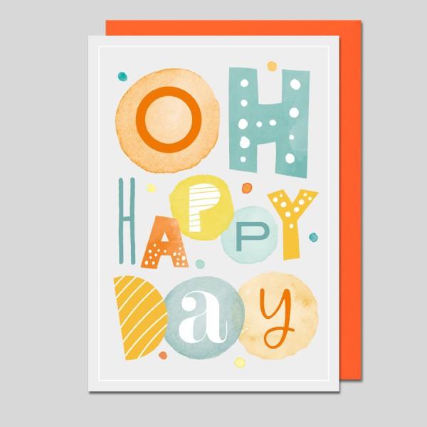 Grußkarte Oh Happy Day