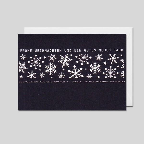 Weihnachtskarte Laser