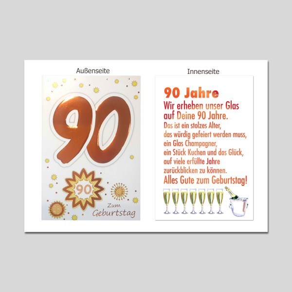 Age 90. Geburtstag