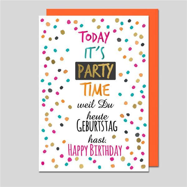 Geburtstagskarte Party Time