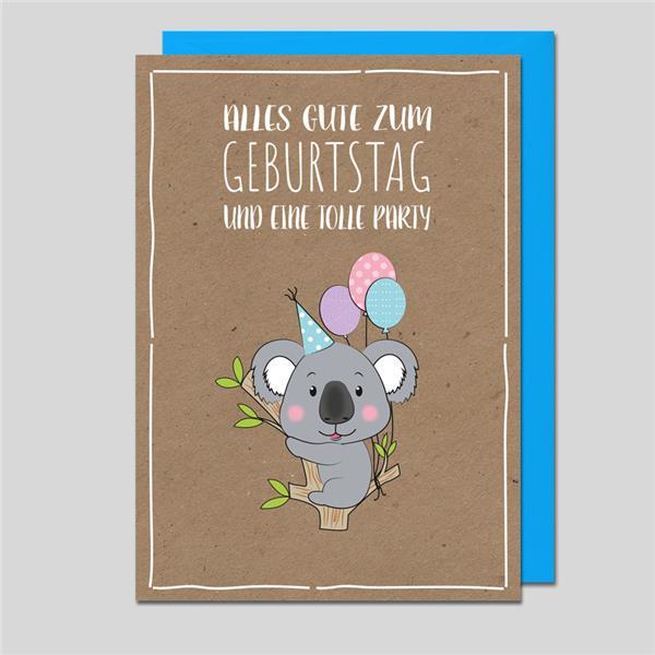 Glückwunschkarte Koalabär