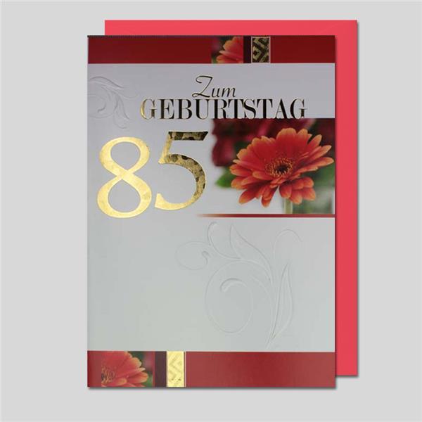 Umschlagkarte 85. Geburtstag