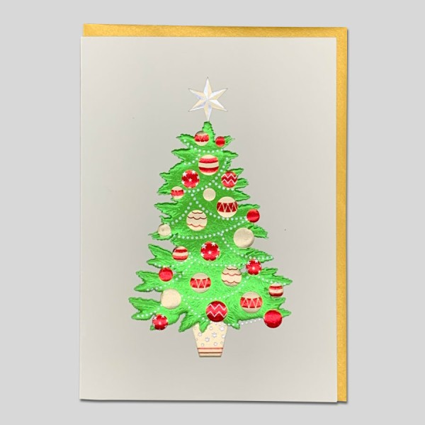 Weihnachtskarte Edel Tannenbaum