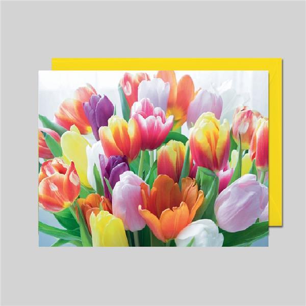 Fotokarte Tulpenstrauß