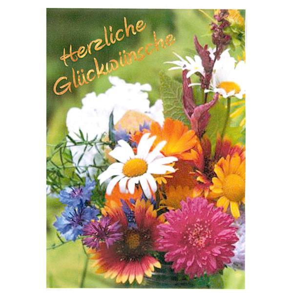 Minikarte Herzliche Glückwünsche