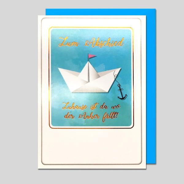 Umschlagkarte Abschied