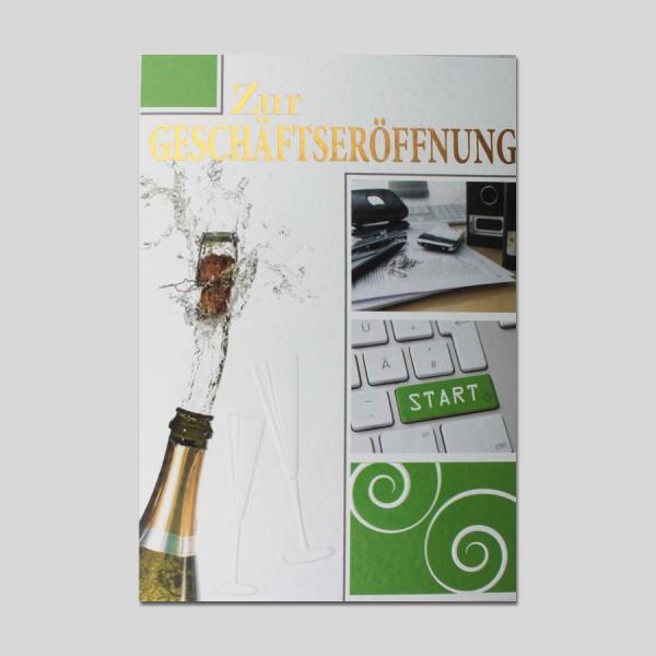 Umschlagkarte Geschäftseröffnung
