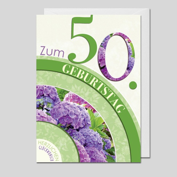 Flower Age 50.Geburtstag