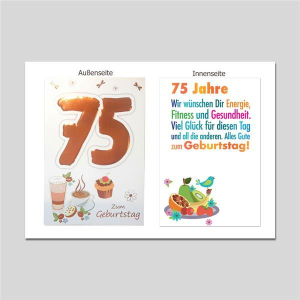 Age 75. Geburtstag