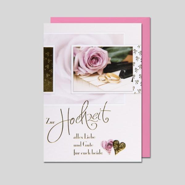 Umschlagkarte Hochzeit