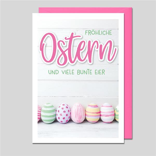 Umschlagkarte Fröhliche Ostern