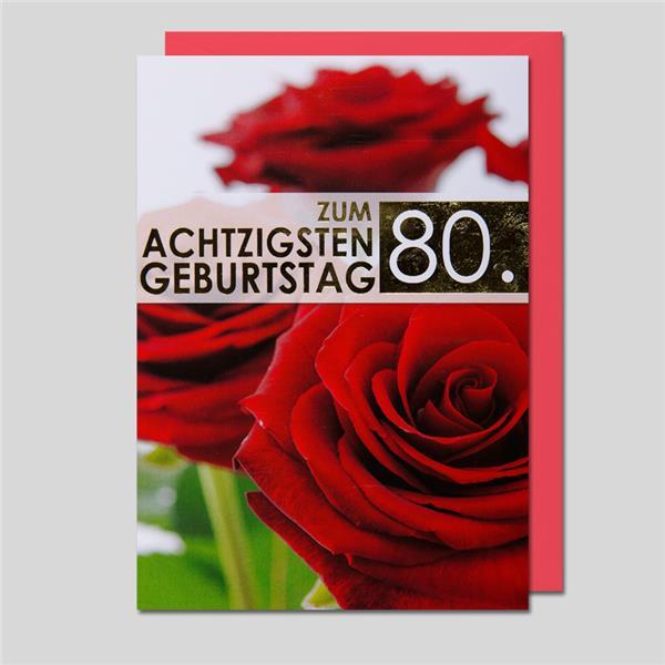 Fotokarte 80. Geburtstag