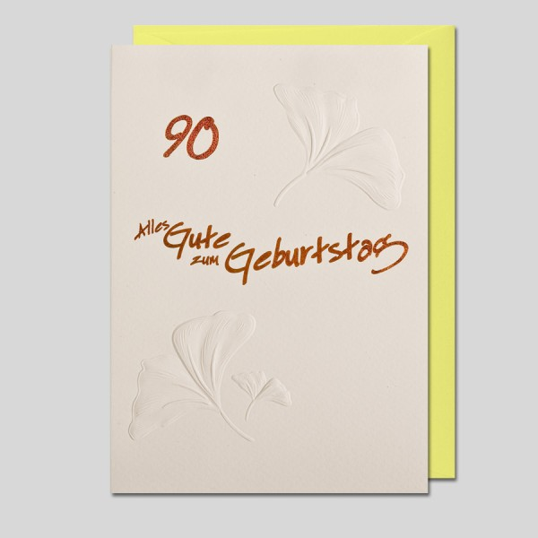 Umschlagkarte 90. Geburtstag