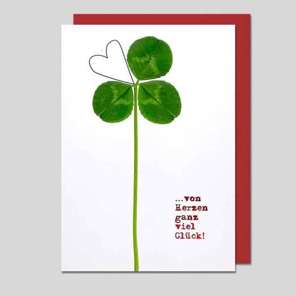 Glückwunschkarte .. von Herzen