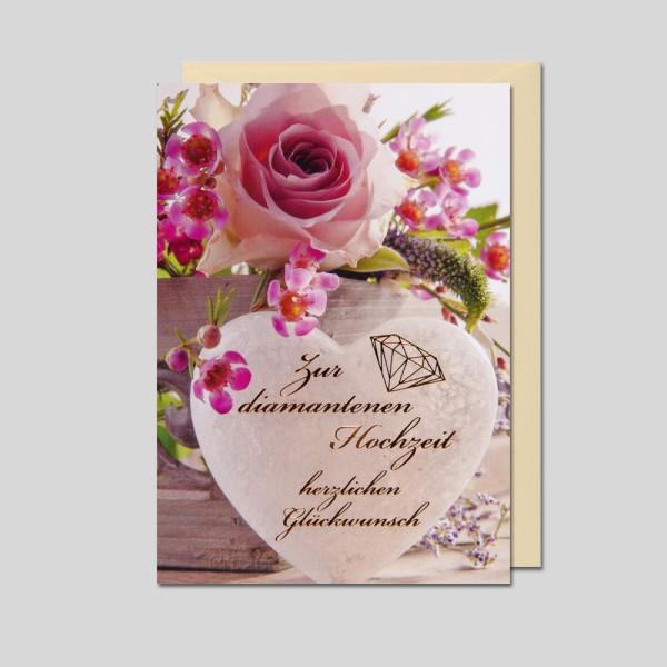Fotokarte Diamantenen Hochzeit Diamanthochzeit
