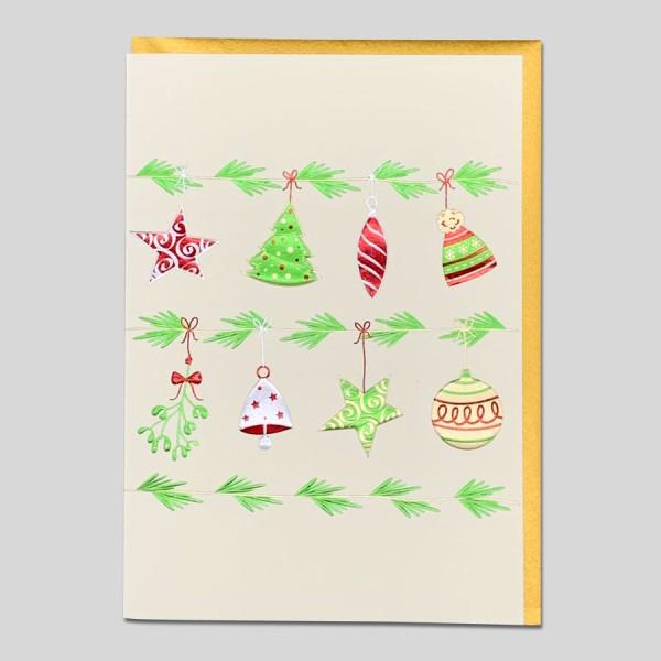 Weihnachtskarte Edel Girlande
