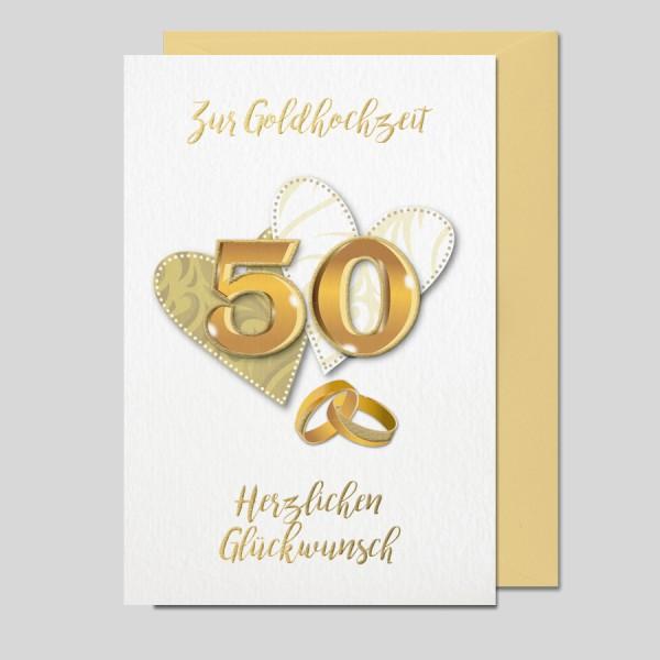 Goldhochzeitskarte Impressione