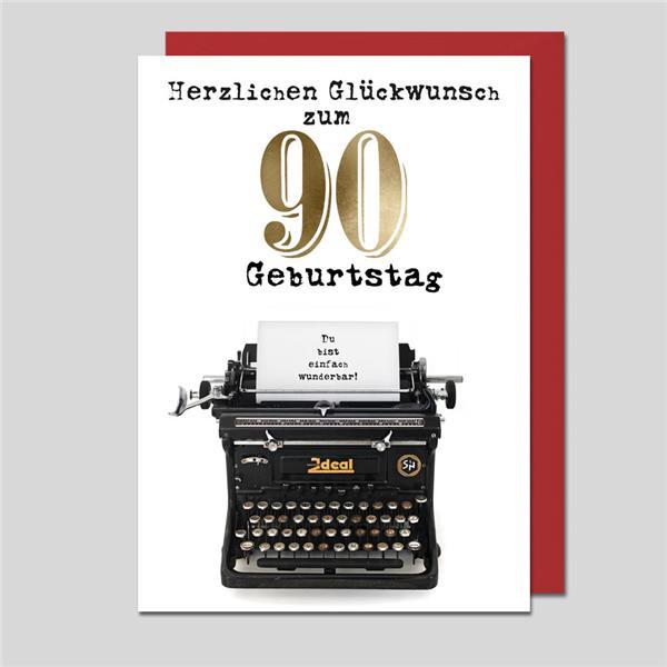 Glückwunschkarte Zum 90.Geburtstag