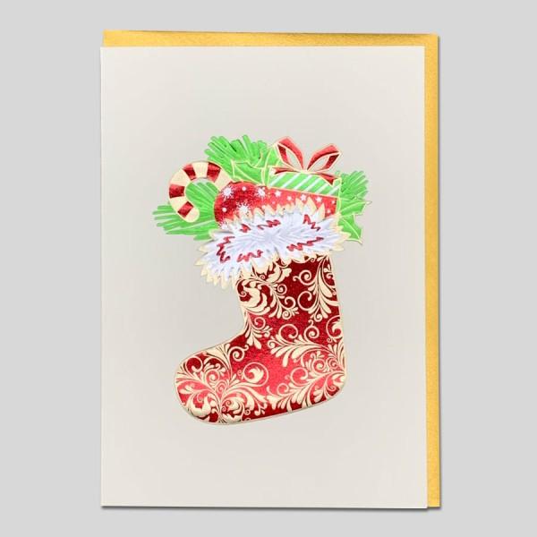 Weihnachtskarte Edel Stiefel
