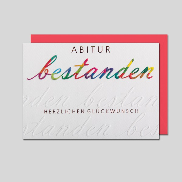 Umschlagkarte Abitur