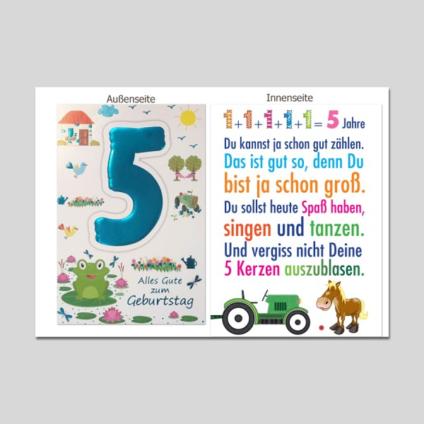Age 5 Geburtstag Age Serien Michel Verlag Best Of Cards