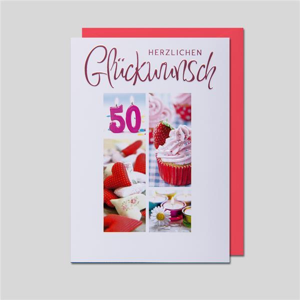 Fotokarte 50. Geburtstag
