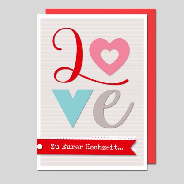 Umschlagkarte LOVE