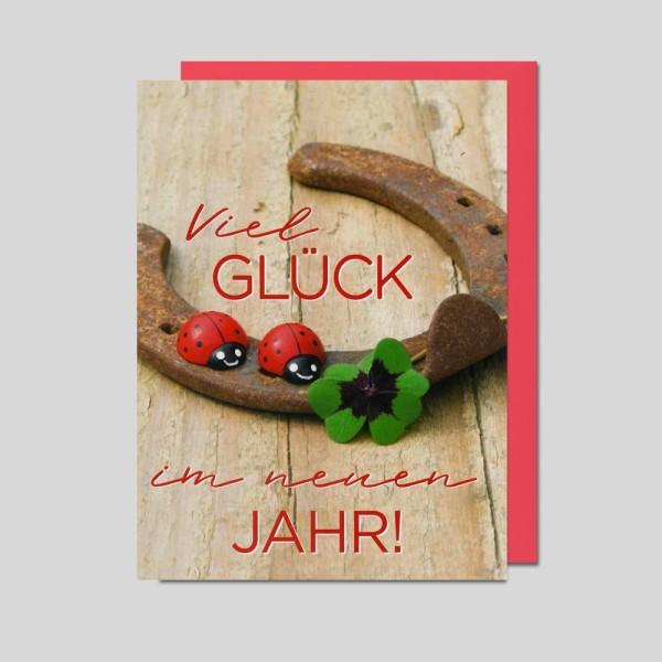 Umschlagkarte Viel Glück im neuen Jahr!