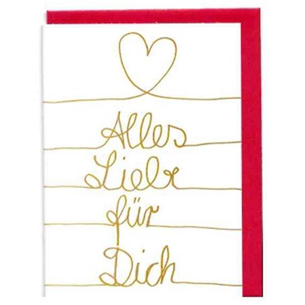 Minikarte Alles Liebe für Dich