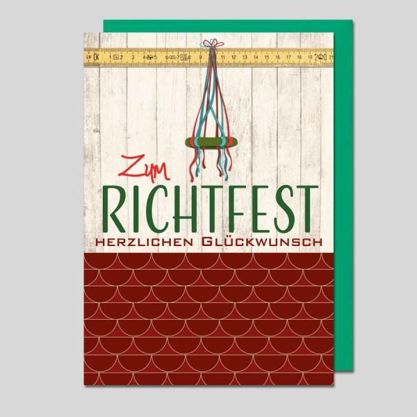 Umschlagkarte Richtfest