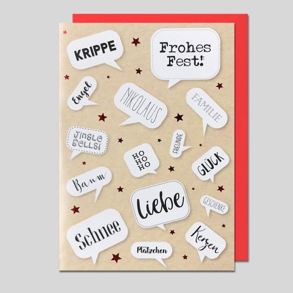Umschlagkarte Weihnachten