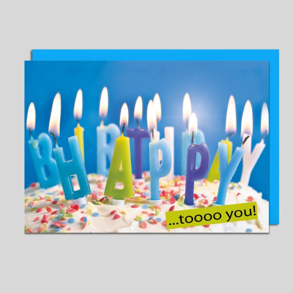 Glückwunschkarte Happy Birthday to you!