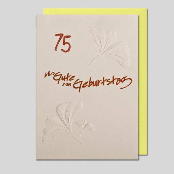 Umschlagkarte 75. Geburtstag