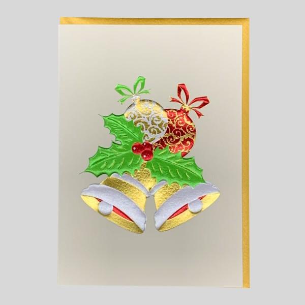 Weihnachtskarte Edel Glocken