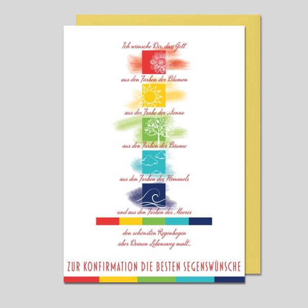 Umschlagkarte Zur Konfirmation