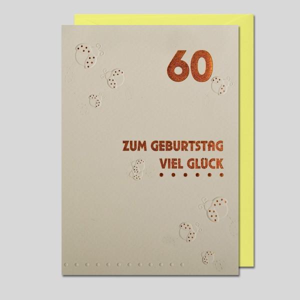 Umschlagkarte 60. Geburtstag