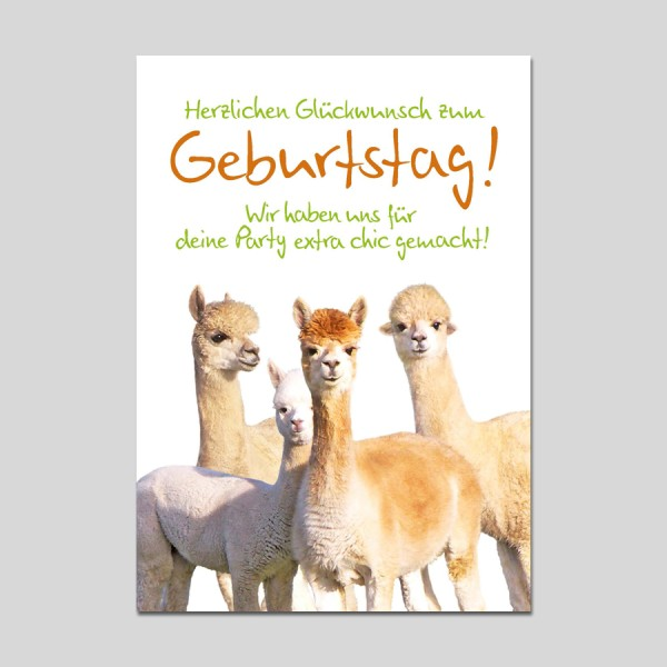 Postkarte Crazy Animals