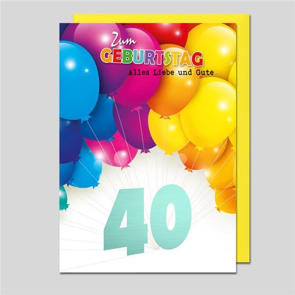 Umschlagkarte 40. Geburtstag