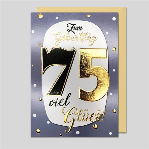 """Best Age """"75"""" Zahlengeburtstag"""