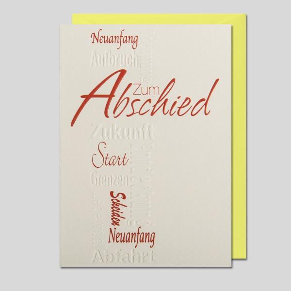 Kalligraphie Abschied
