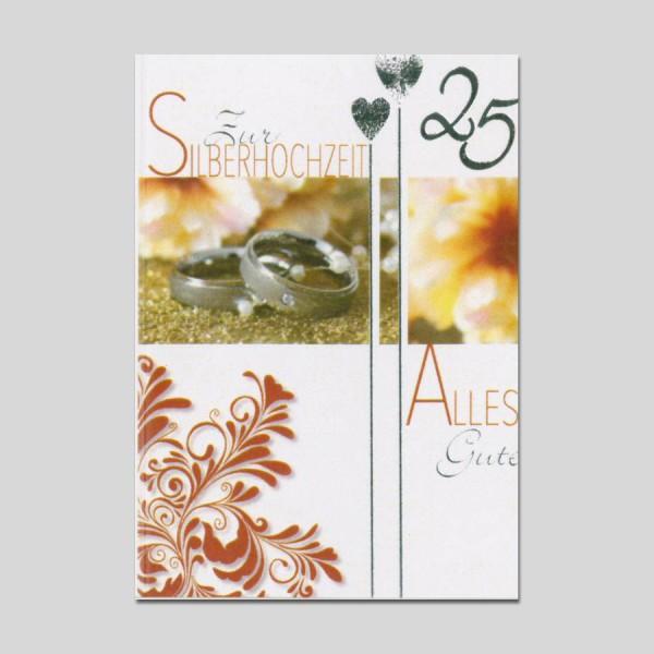 Minikarte Silberhochzeit