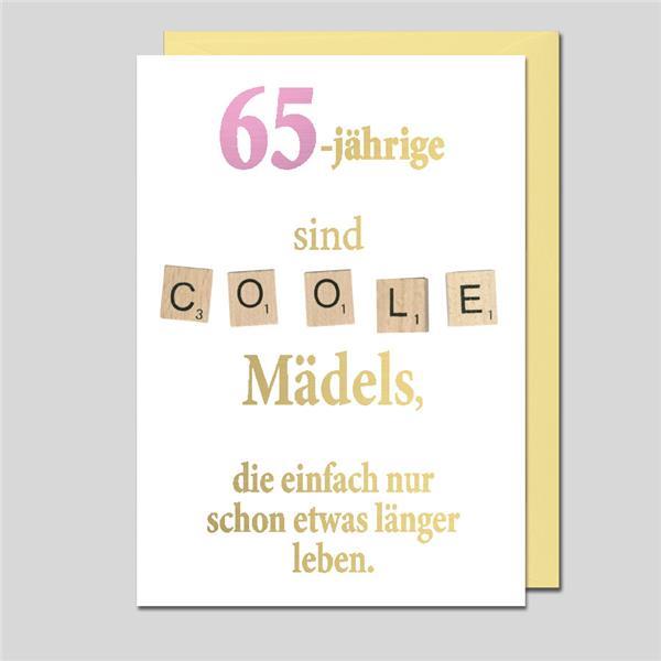 Glückwunschkarte zum 65. Geburtstag