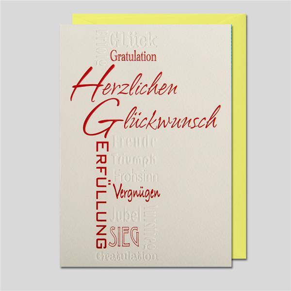 Kalligraphie Herzlichen Glückwunsch