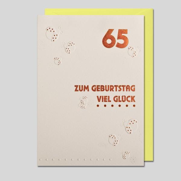 Umschlagkarte 65. Geburtstag