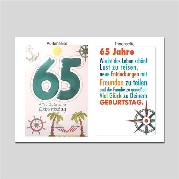 Age 65. Geburtstag